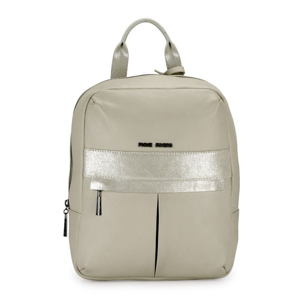 Phive Rivers WomenS Leather Back Pack (Beige, PR1215)