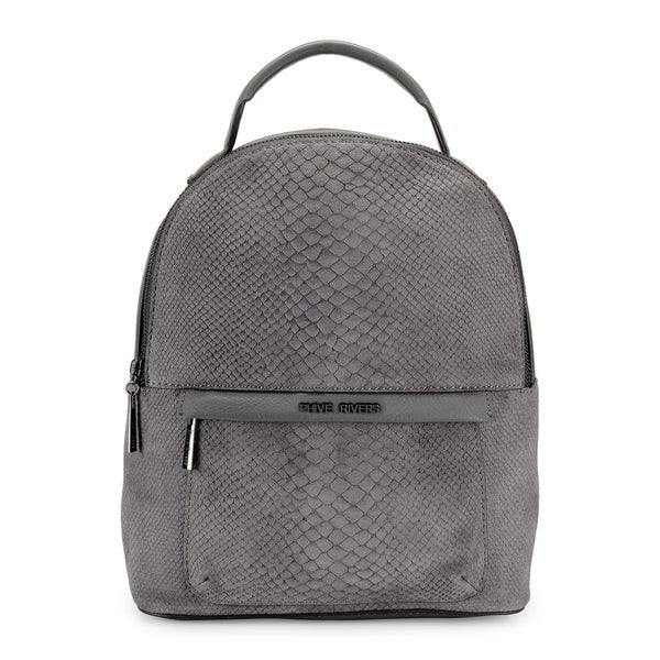 Phive Rivers WomenS Leather Back Pack (Grey, PR1216)