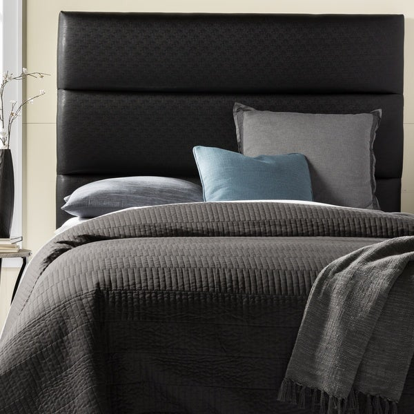 Humble + Haute Hereford Queen Size Textured Black Upholstered Headboard