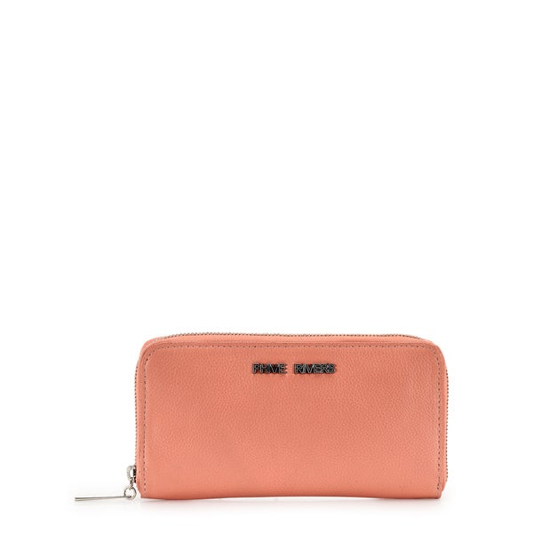 Phive Rivers Womens Leather Wallet (Coral, PR1235)