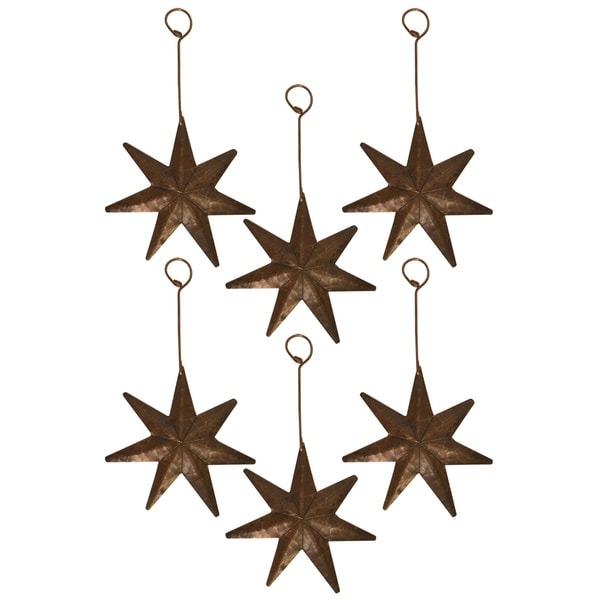 Hand-hammered Copper Star Christmas Ornament (Quantity of 6)
