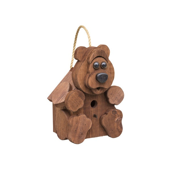 Rustic Barnwood BEAR Bird House
