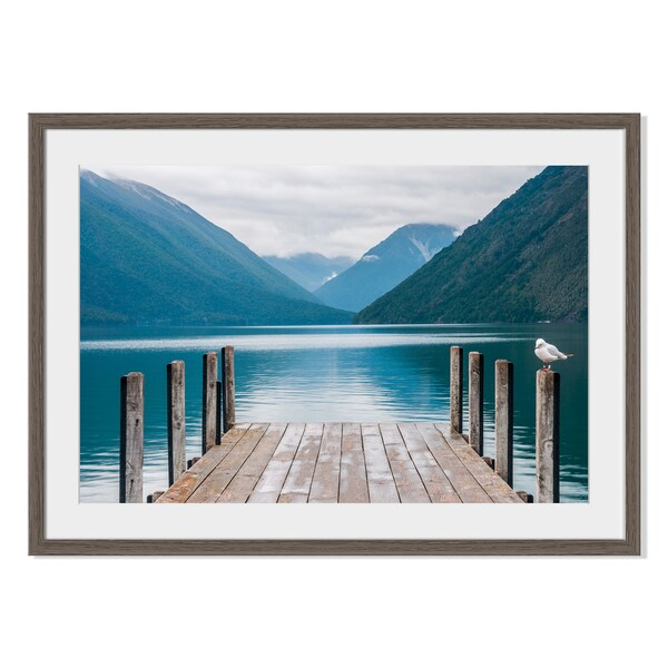 Nelson Lakes II, Framed Paper Print