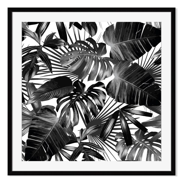 Palm leaves, Framed Paper Print