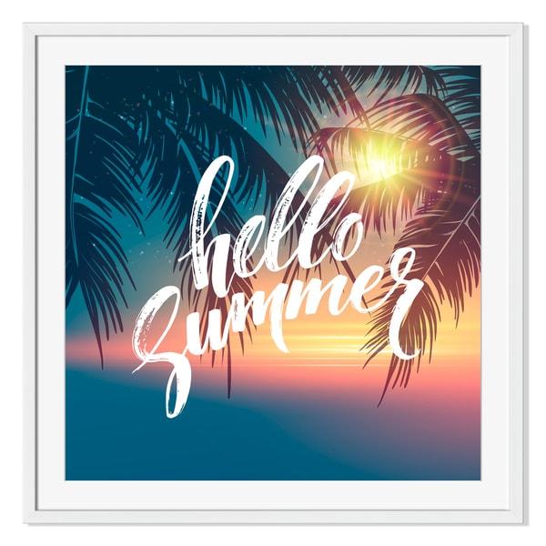 Hello summer, Framed Paper Print