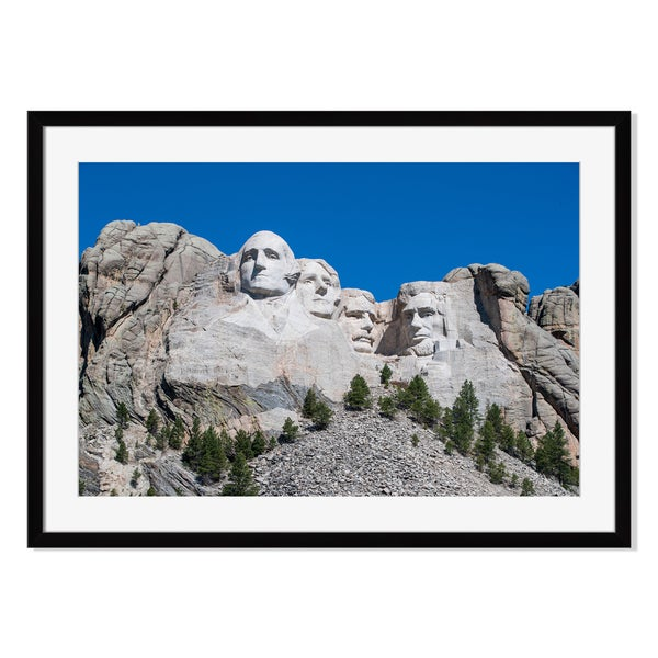 Mount Rushmore, Framed Paper Print