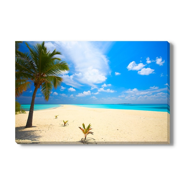 Infinity tropical beach, Canvas Gallery Wrap