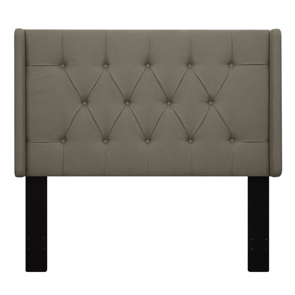 Wingback Tufted Taupe King/California King Upholstered Headboard