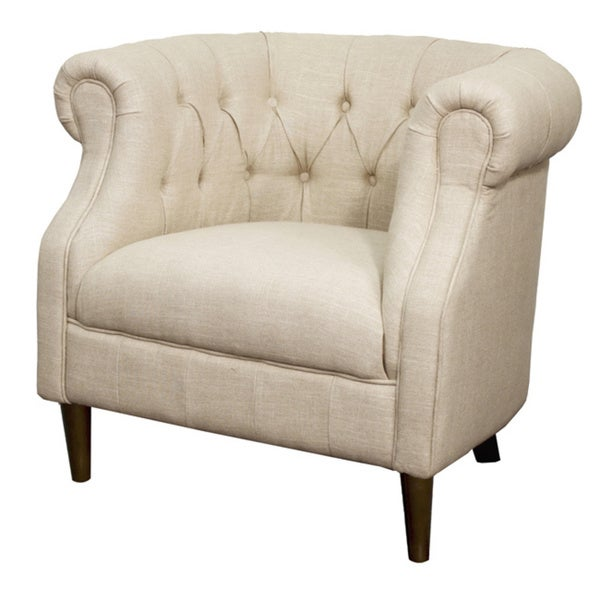 Luna Fabric Tufted Tub Chair