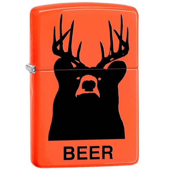 Classic Zippo 'Beer' Orange Lighter