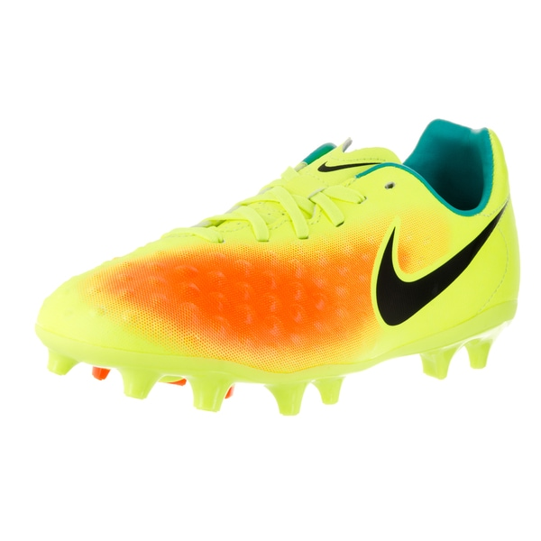 Nike Kids JR Magista Opus II Fg Volt/Black Total Orange Clr Jd Soccer Cleat