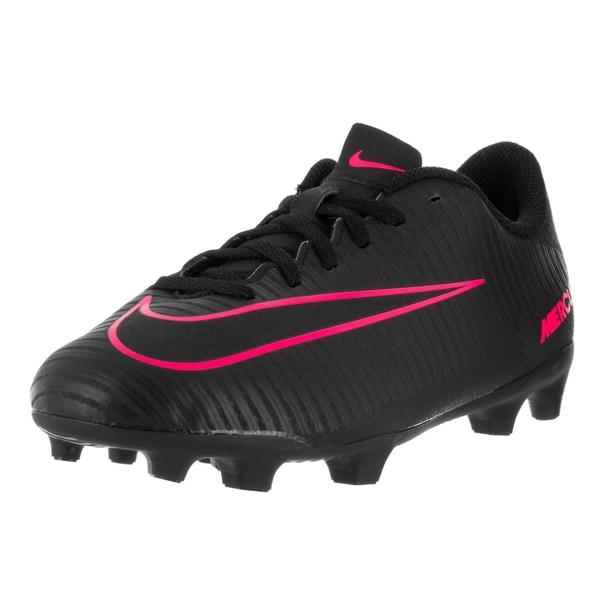 Nike Kids Jr Mercurial Vortex III Black Pink Blast Synthetic Soccer Cleat