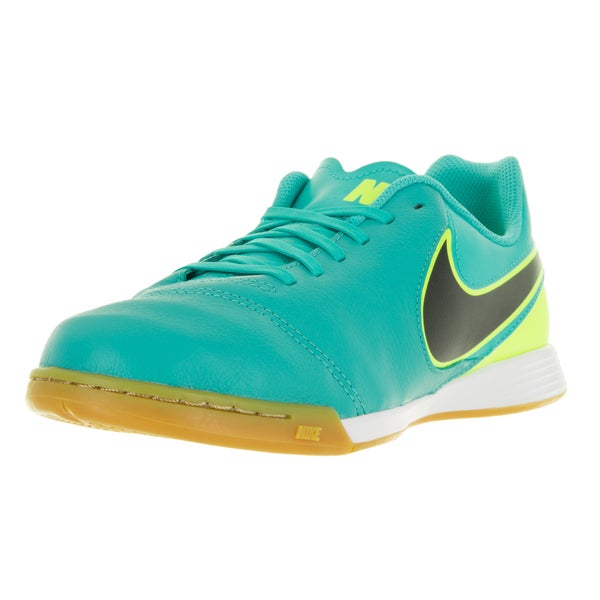 Nike Kids Jr Tiempo Legend VI Green Synthetic Leather Indoor Soccer Shoes