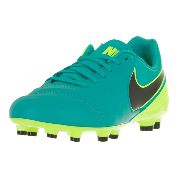 Nike Kid's Jr. Tiempo Legend VI Green Synthetic Leather Soccer Cleats