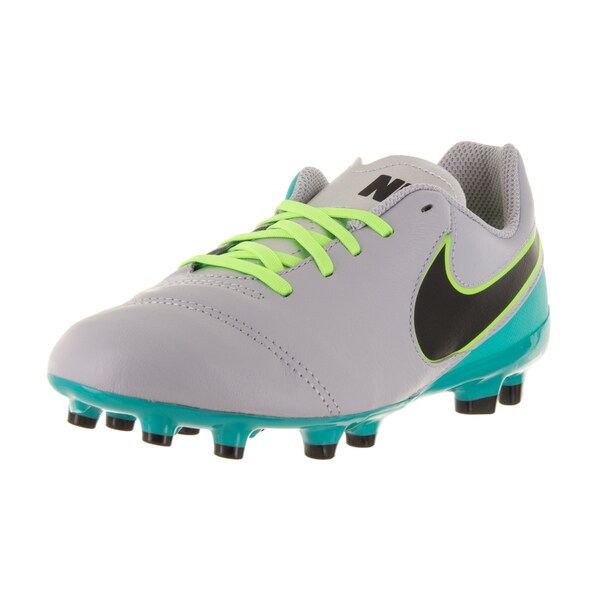 Nike Kid's Jr Tiempo Legend VI Grey Synthetic Leather Soccer Cleats