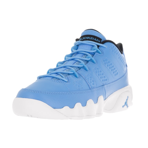 Nike Jordan Kids' Air Jordan 9 Retro Low Blue and White Leather Basketball Shoes