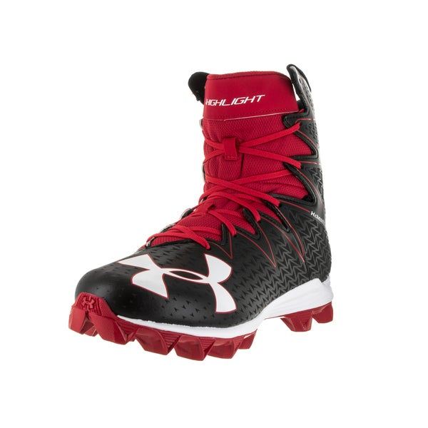 Under Armour Men's UA Highlight RM Black and Red Football Cleat 22220613