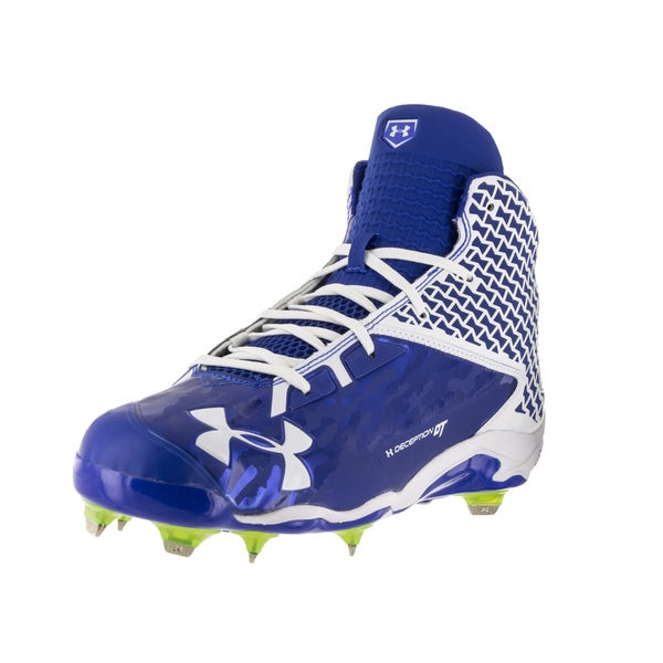 Under Armour Men's UA Deception Blue Fabric Baseball Cleat 22220696
