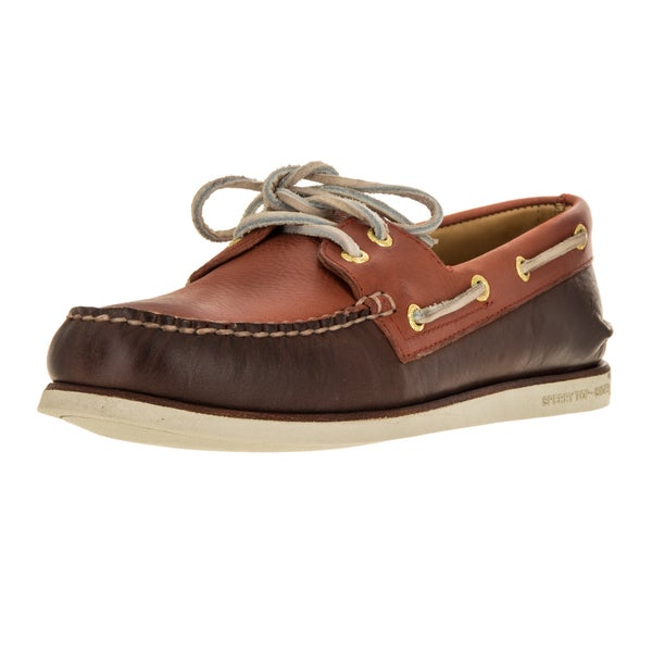 Sperry Top-sider Men's Gold Authentic Original Wedge Brown, Orange Leather Boat Shoes