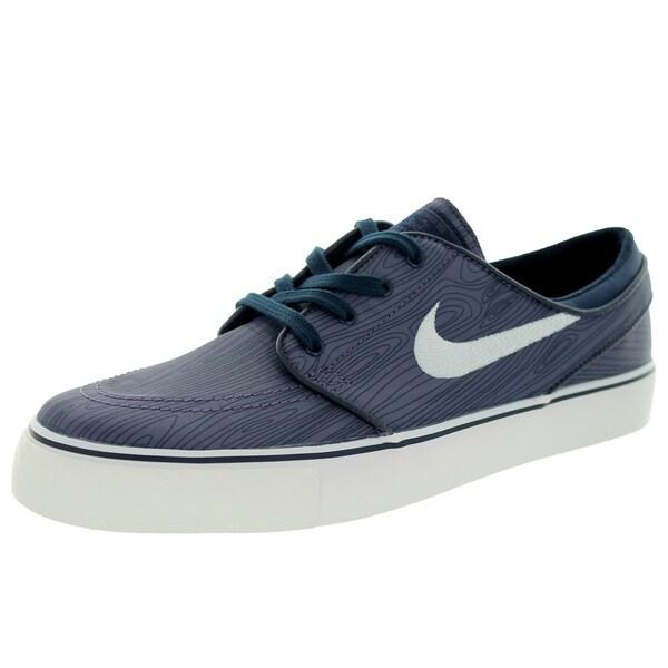Nike Men's Stefan Janoski Blue Textile Skate Shoe