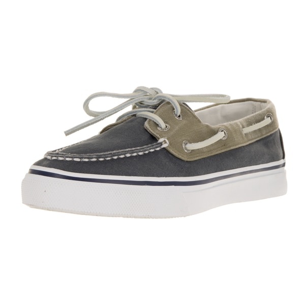 Sperry Top-Sider Men's Bahama 2-Eye Navy/Khaki Canvas Boat Shoes