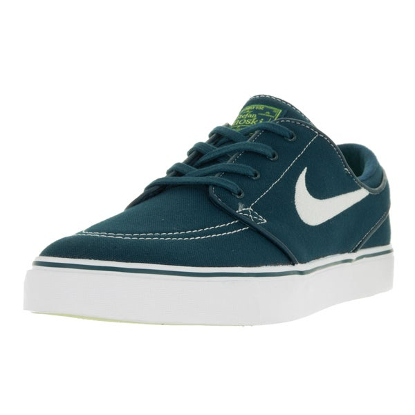 Nike Men's Zoom Stefan Janoski Midnight Turq/White/Volt/White Canvas Skate Shoes