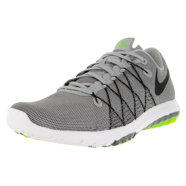 Nike Men's Flex Fury 2 Wolf Grey, Black, Dark Grey, and Cloud Grey Fabric Size 11.5 Running Shoes