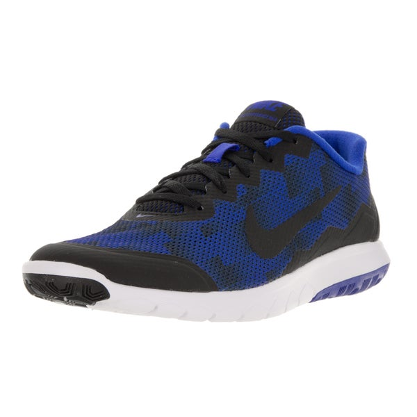 Nike Men's Flex Experience Rn 4 Premium Black/Racer Blue/White Running Shoe