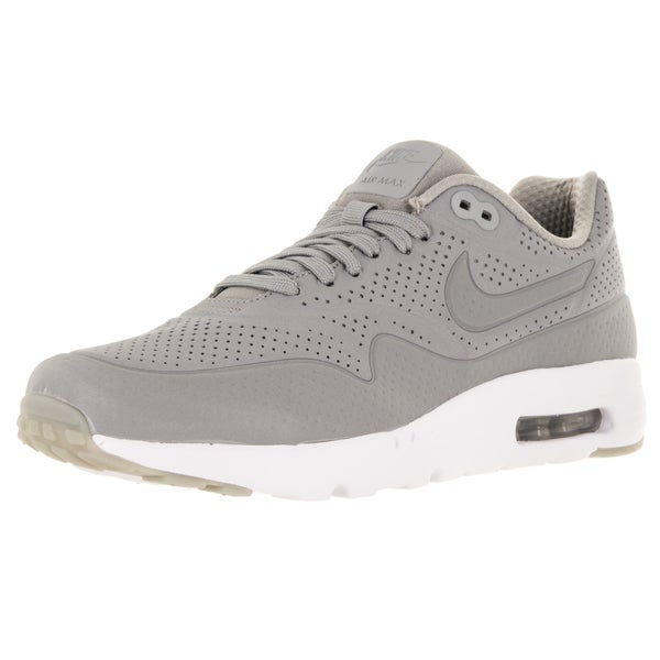 Nike Men's Air Max 1 Ultra Moire Grey/White Leather Size 8 Running Shoe
