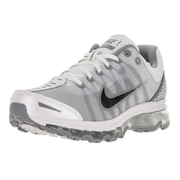 Nike Men's Air Max 2009 White, Black, and Stealth Clear Size 8 Running Shoes