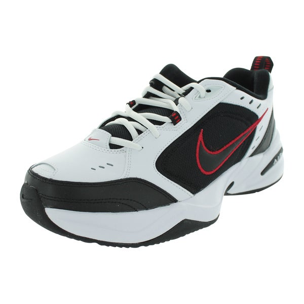 Nike Men's 'Air Monarch IV' White, Black, and Varsity Red Fabric Size 8.5 Running Shoes
