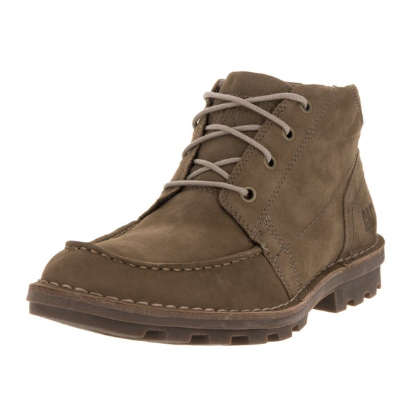 Caterpillar Men's Wagner Brown Leather Ankle Boots