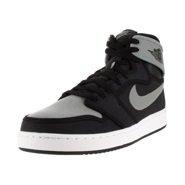 Nike Jordan Men's AJ1 KO High OG Black/Shadow Grey/White Canvas Basketball Shoe