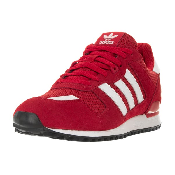 Adidas Men's ZX 700 Originals Scarlet/White/Black Suede Running Shoe