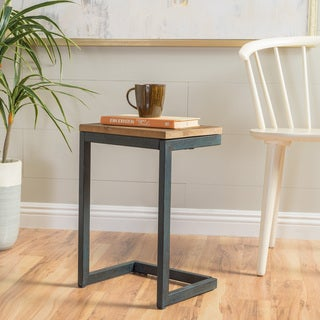 Darlah Small Firwood Antique Accent Table by Christopher Knight Home