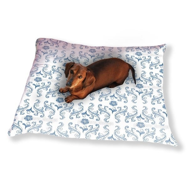 Barocko Folk Blues Dog Pillow Luxury Dog / Cat Pet Bed