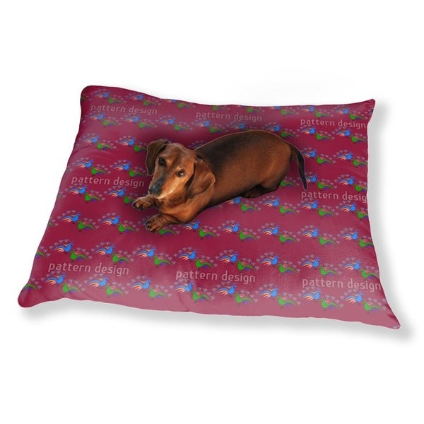 Peacocks Dance Dog Pillow Luxury Dog / Cat Pet Bed