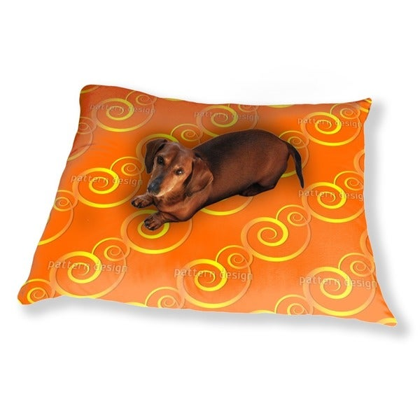 Curly Gold Dog Pillow Luxury Dog / Cat Pet Bed
