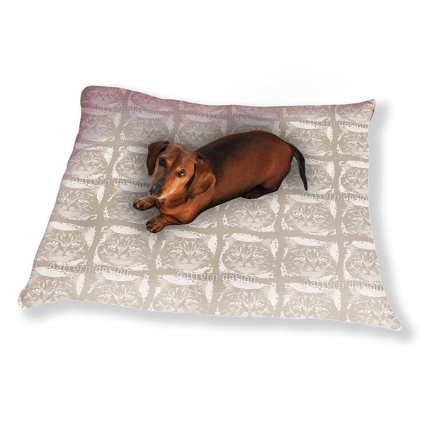 Kitty Minka Brown Dog Pillow Luxury Dog / Cat Pet Bed