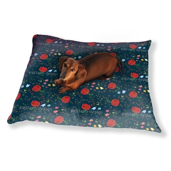 Floral Mix Dog Pillow Luxury Dog / Cat Pet Bed