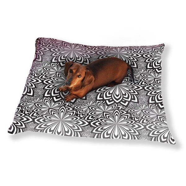 Psychedelic Flowers Dog Pillow Luxury Dog / Cat Pet Bed