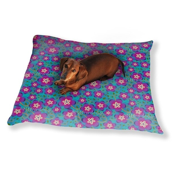 Funky Flowers Dog Pillow Luxury Dog / Cat Pet Bed