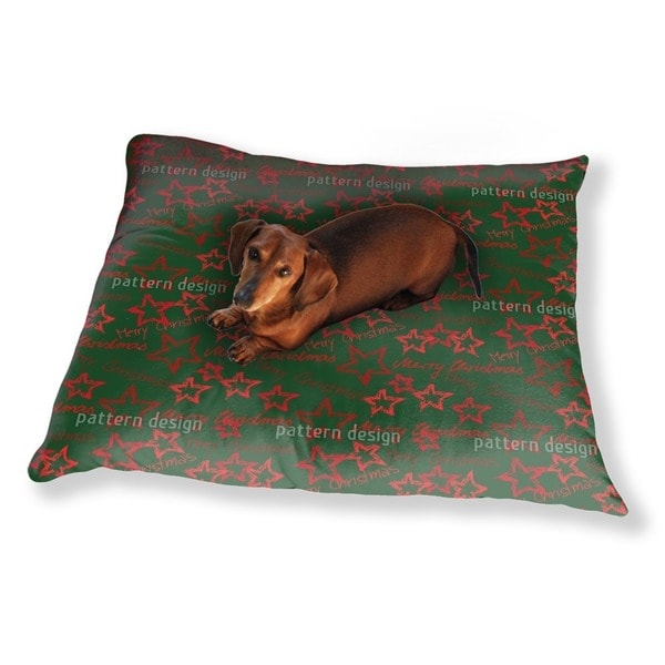 Merry Christmas Green Dog Pillow Luxury Dog / Cat Pet Bed