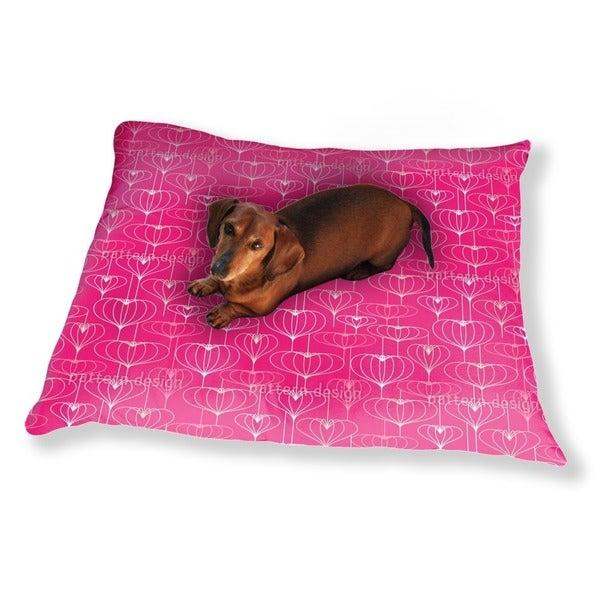 Heart Lantern Pink Dog Pillow Luxury Dog / Cat Pet Bed