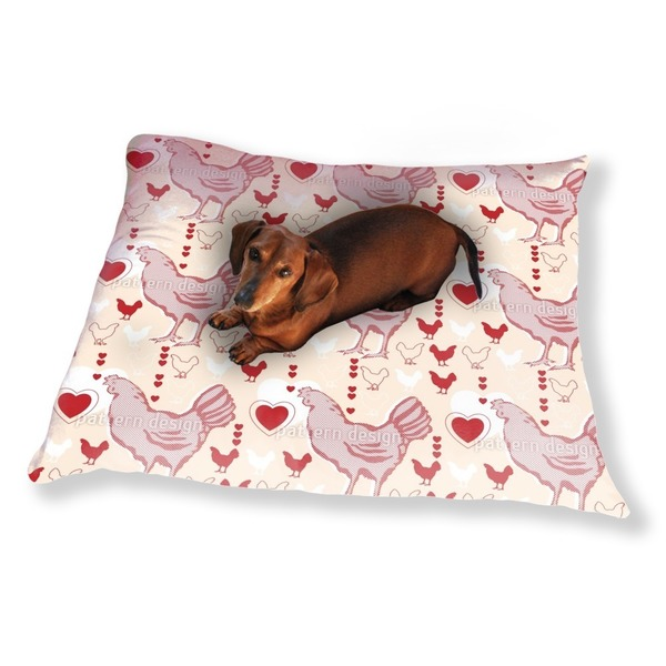 Chicken With Heart Dog Pillow Luxury Dog / Cat Pet Bed