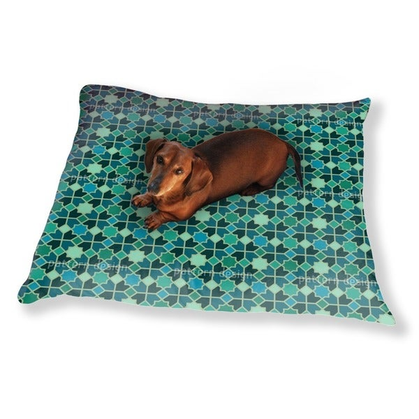 Morocco Teal Dog Pillow Luxury Dog / Cat Pet Bed