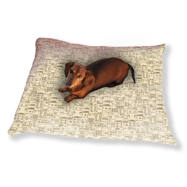 Small Part Of Town Monochrome Dog Pillow Luxury Dog / Cat Pet Bed