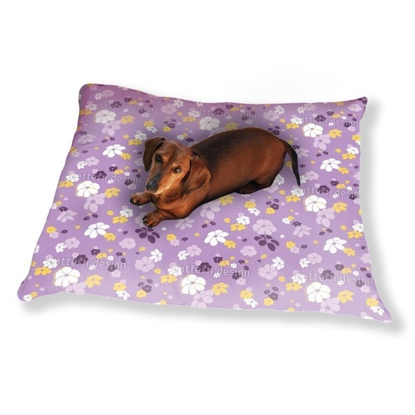 Lilac Flower Rain Dog Pillow Luxury Dog / Cat Pet Bed
