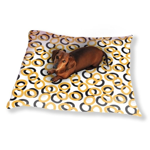 Curly Circles Dog Pillow Luxury Dog / Cat Pet Bed