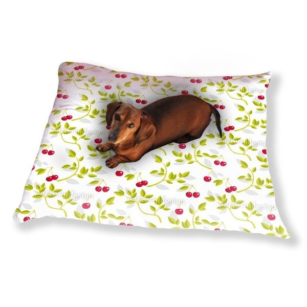 Cherry Branches White Dog Pillow Luxury Dog / Cat Pet Bed